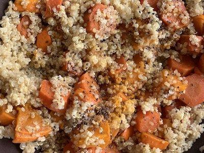 Recette de quinoa à la courge d'automne