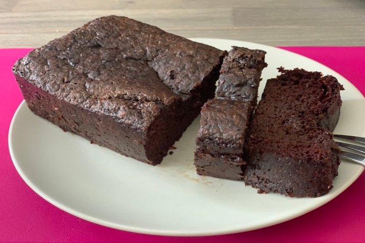 Recette de cake chocolat-haricots rouges