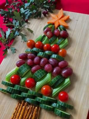 Recette de sapin de Noël aux fruits et légumes
