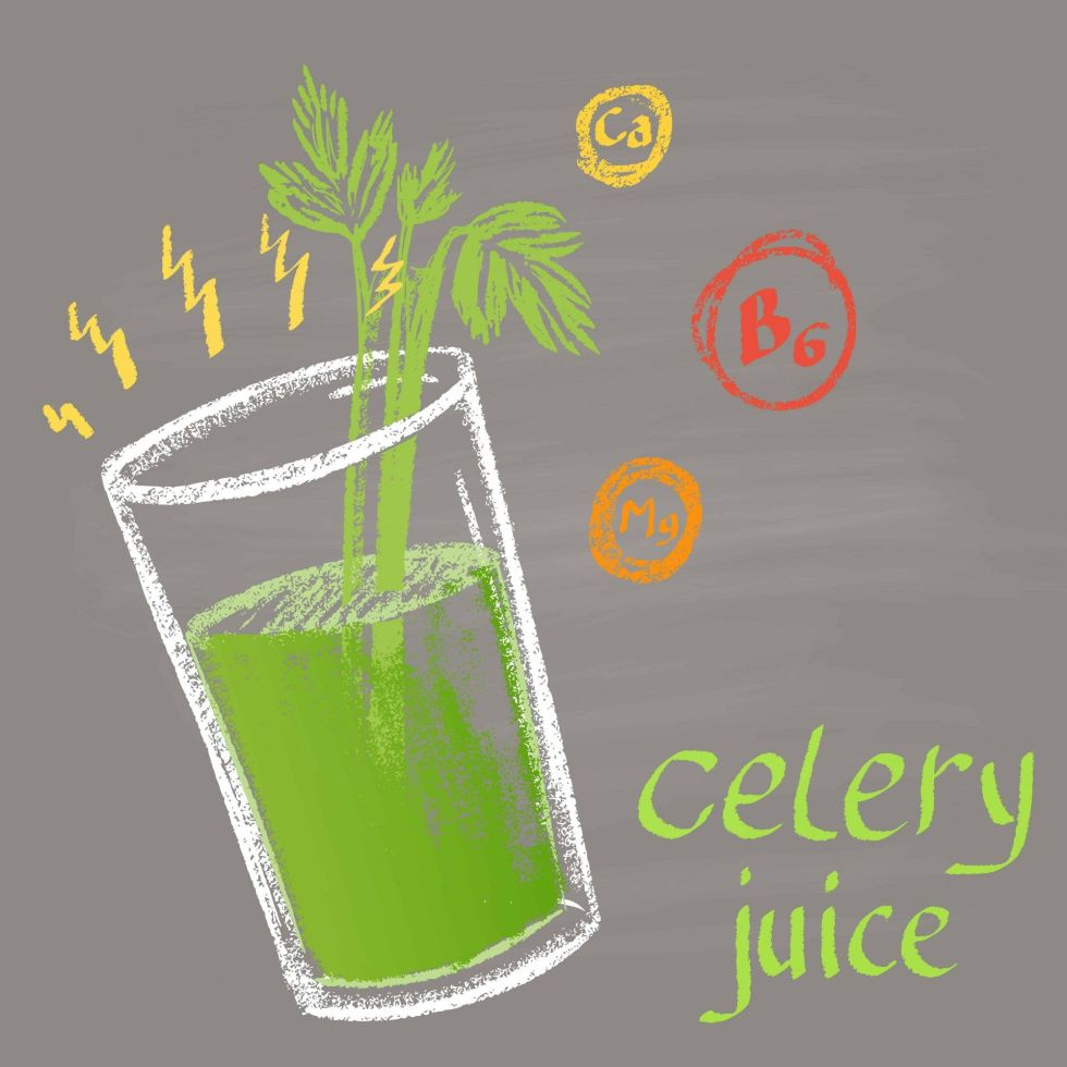 Celery Juice Mineral infographic