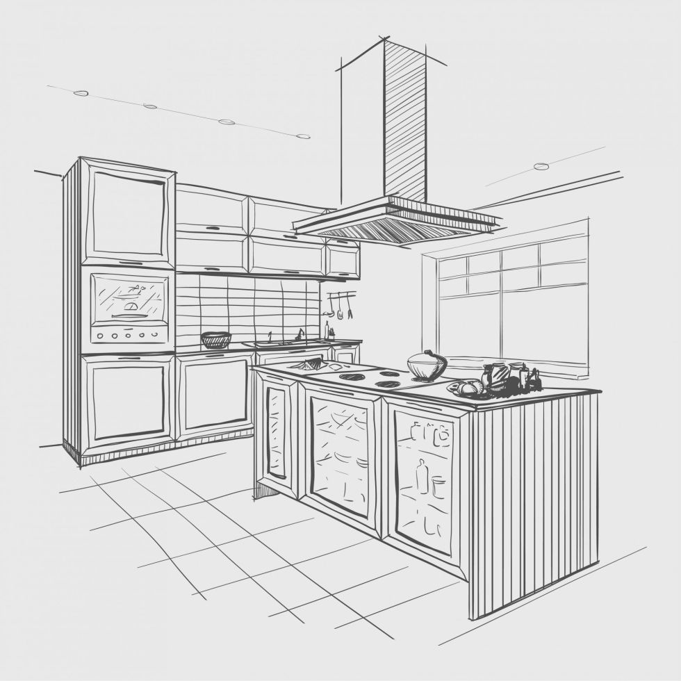 Kitchen sketched design