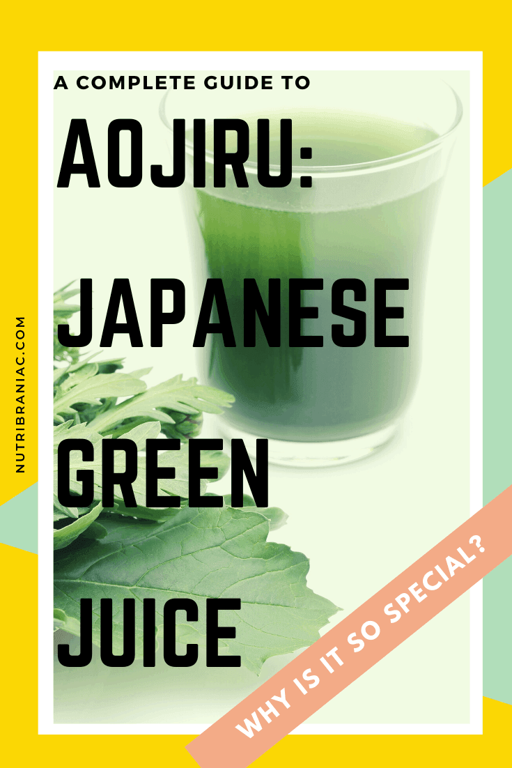 An aojiru drink has impressive health benefits. If you would like to know about aojiru and it crazy benefits, then check out our complete guide to this popular Japanese green juice.  #juicingrecipes #juicingforbeginners #aojirurecipe #aojirutea #healthandwellness #plantbaseddiet #veganlifestyle