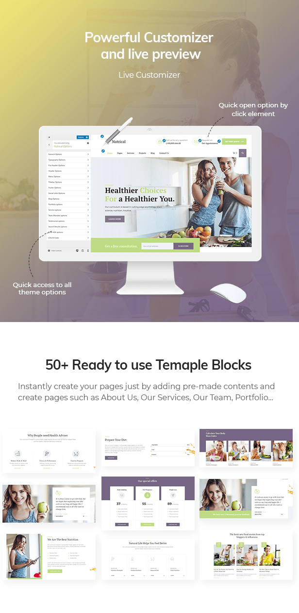 Nutrical WordPress Theme