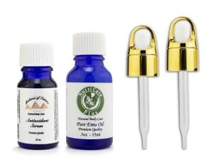 Balance of Nature Antioxidant Serum 10ml and Pure Emu Oil .5oz/15ml Glass Dropper