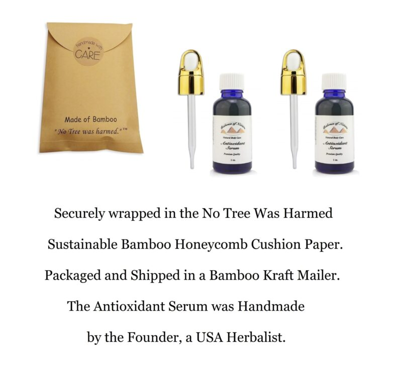 2 Balance of Nature Antioxidant Serum 1oz gold Dropper Cap
