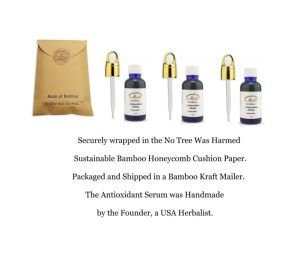 3 Balance of Nature Antioxidant Serum 1oz Gold Basket Dropper Cap