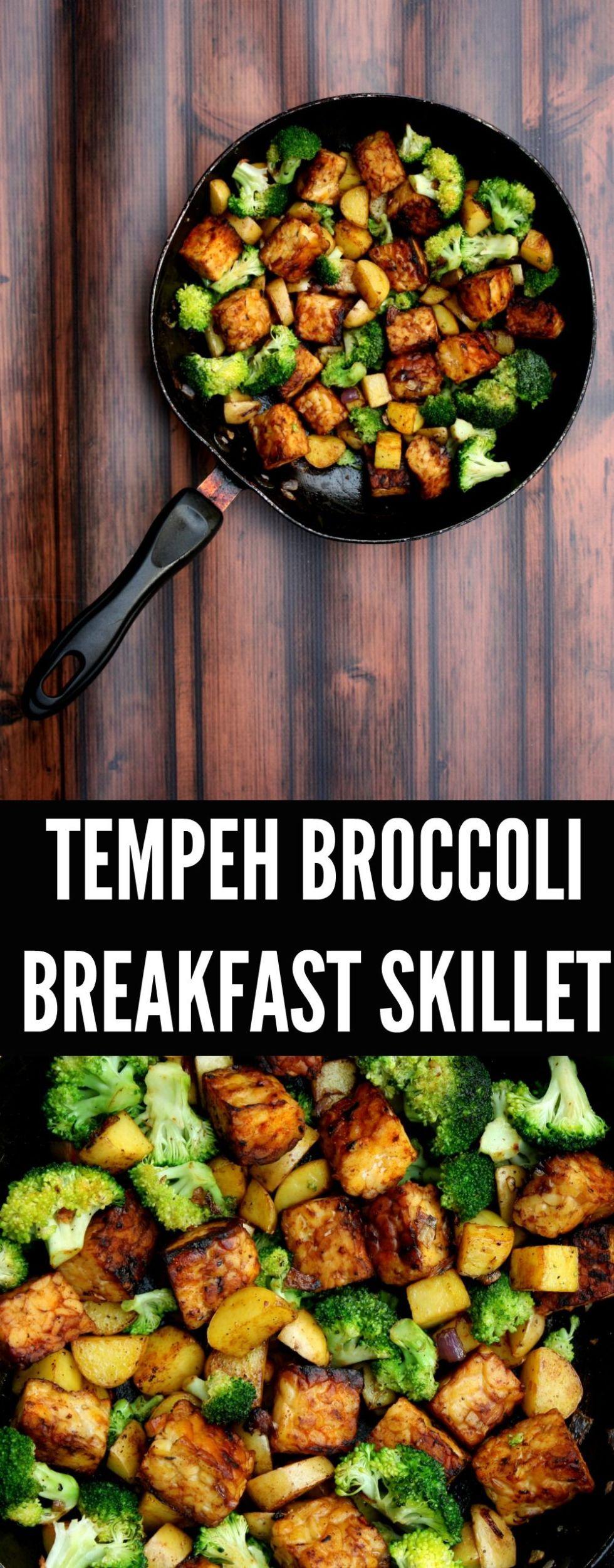 tempeh broccoli breakfast skillet
