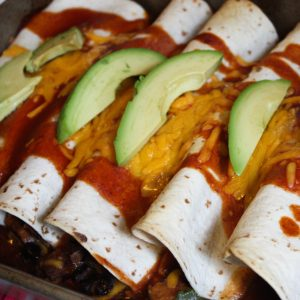 Sweet Potato Spinach Enchiladas