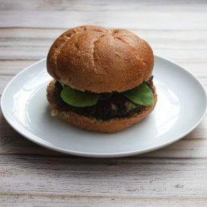 Loaded Vegan Veggie Burger