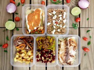 kit fitness almoço