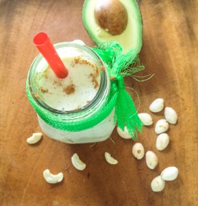 "Avocado Smoothie: ""Pistachio Cashew Cream"""