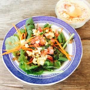 Summer Egg Salad w/ Zesty Fig Dressing over Greens — The ReMix