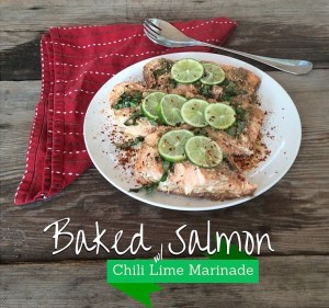 Baked Salmon w/ Chili Lime Marinade