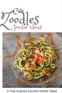 Zucchini Noodles w/ Chili-Almond-Miso Paste