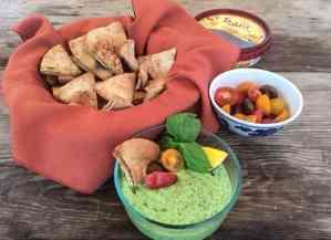 Creamy Hummus & Basil Pesto