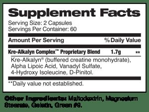 KreAlkalyn Complex Supplement Facts