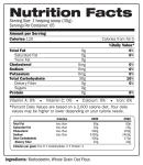Carb Complex Supplement Facts