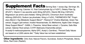 ThermovexPM Watermelon Supplement Facts