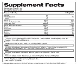 vasocor fruit punch supplement facts
