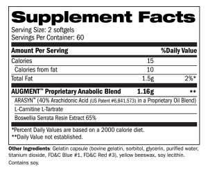 Augment Supplement Facts
