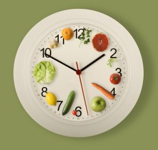 clock of veggies