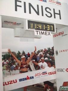 Ironman USA 2001 finish