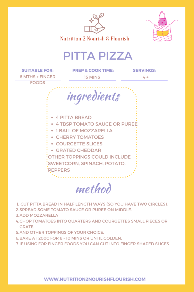 This image is of a pitta pizza recipe