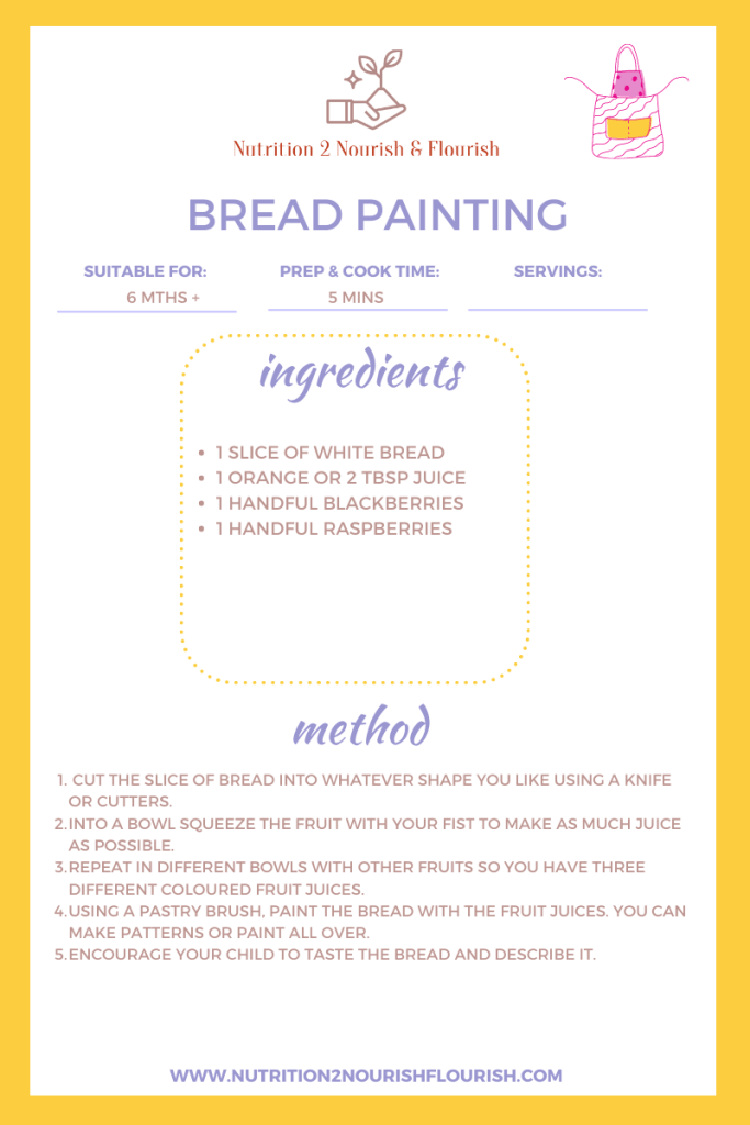 This image is of a bread painting recipe