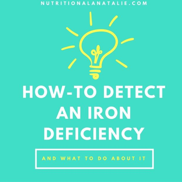 HOW-TO DETECT AN IRON DEFICIENCY