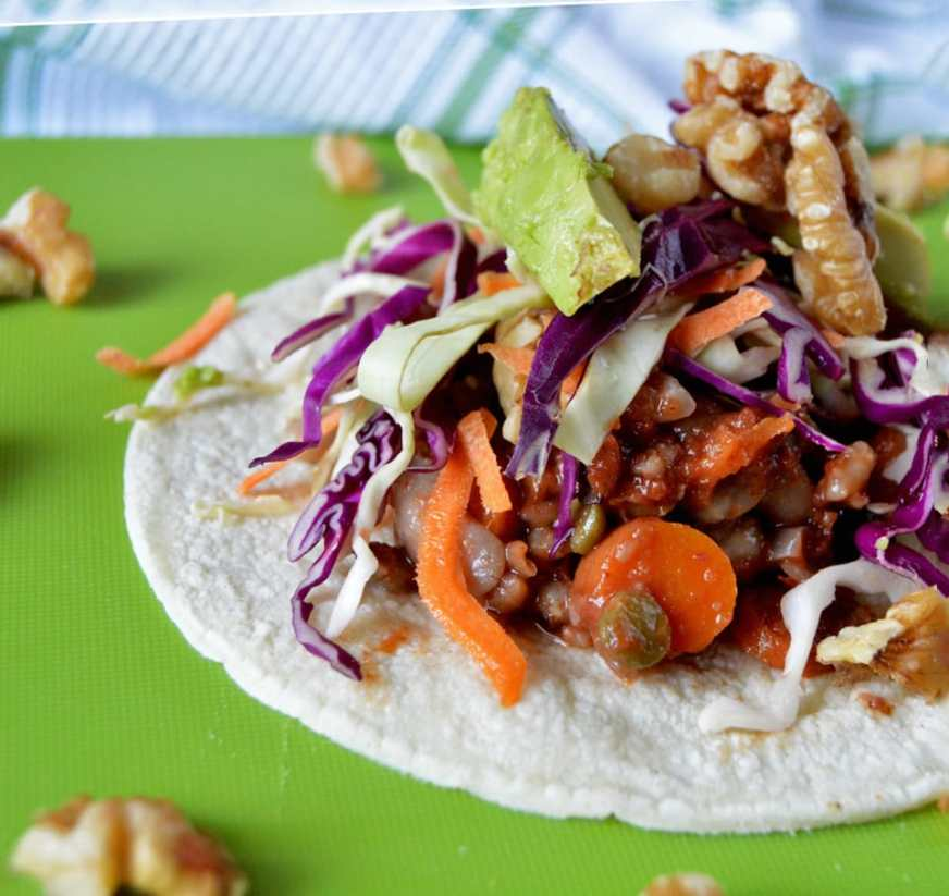 Recipe for vegan bean tacos