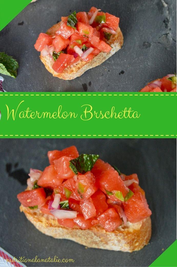 Recipe for watermelon bruschetta