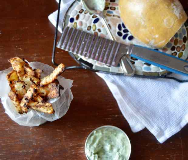 Jicama Fries with Green Garlic Sauce 3