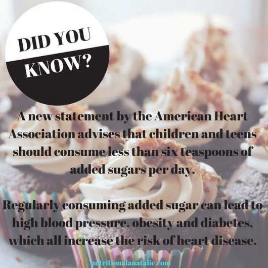 information about sugar guidelines for kids