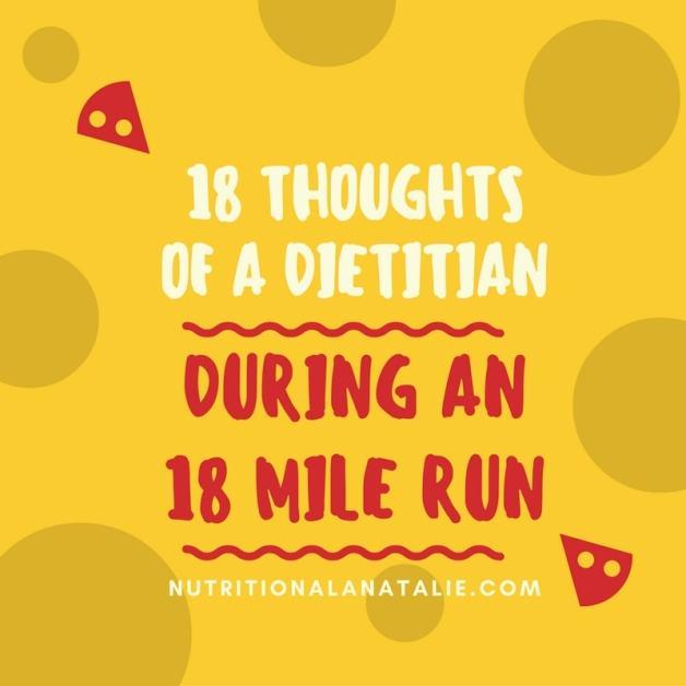 thought while marathon training