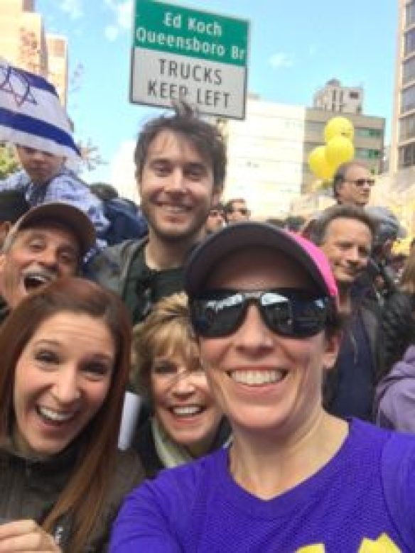 family at TCS NYC Marathon