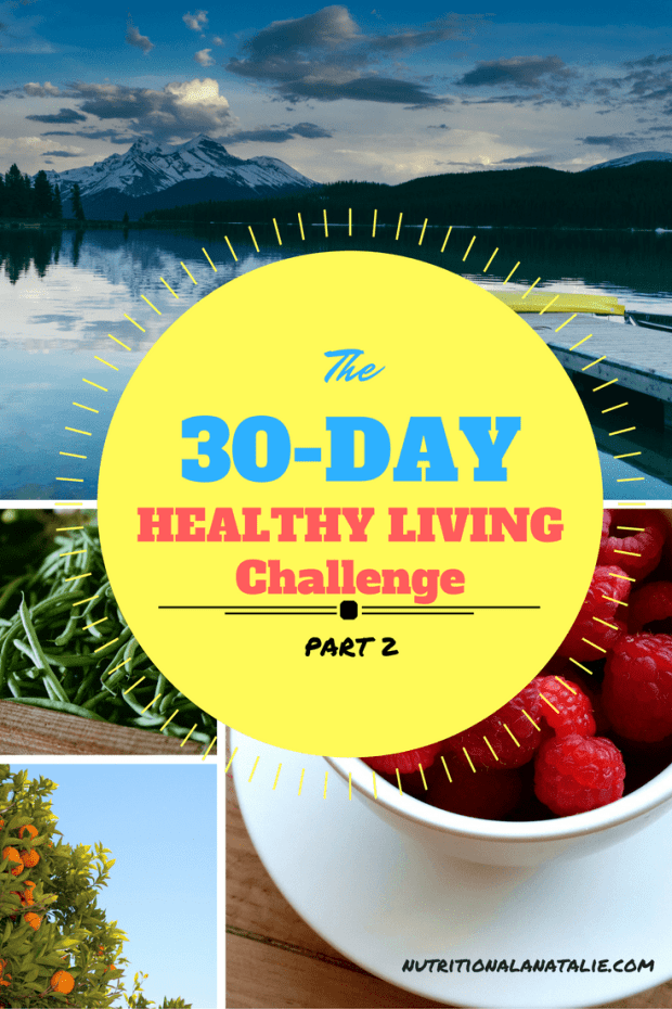 a healthy living challenge in january of 2017 with weekly challenges and a giveaway
