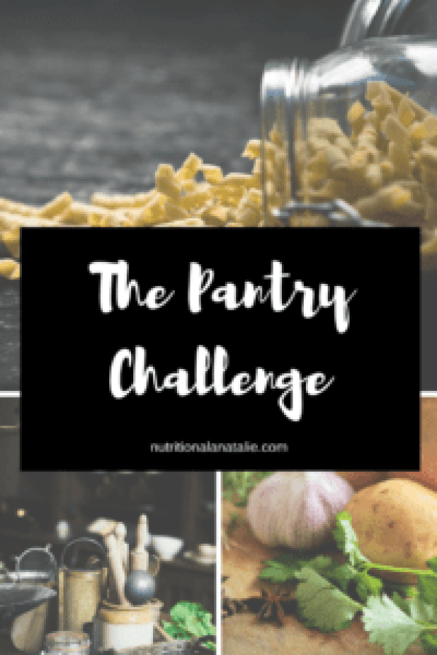A challenge to see how many items you can eat from your pantry