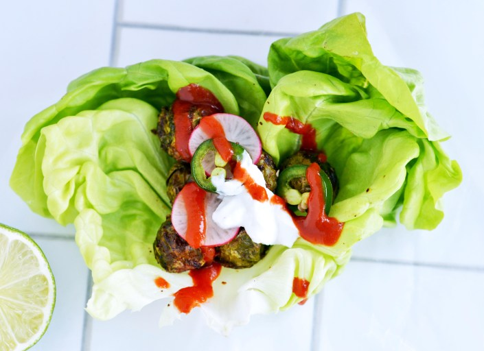 Recipe for Brussels Sprout & Bibbed Lettuce Taco