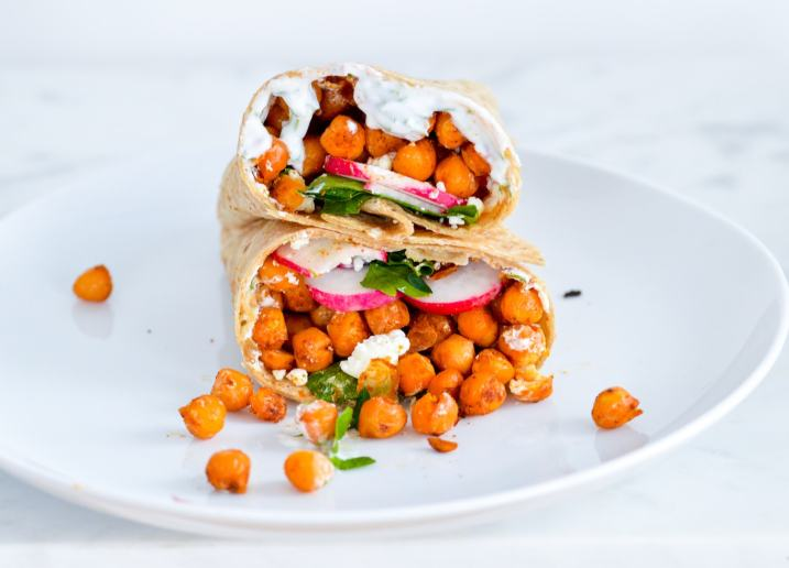 Vegetarian chickpea wrap