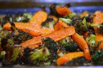 Asian Roasted Carrots & Broccoli