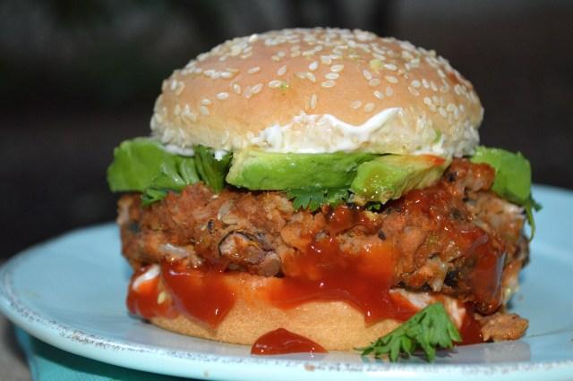 Complete Black Bean Burger