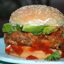 Knock Your Socks Off Veggie Burger