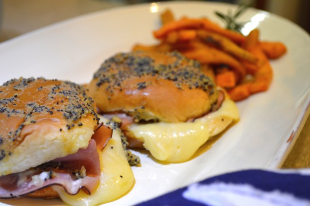 Ham & Cheese Sliders Served w/Sweet Pot Fries
