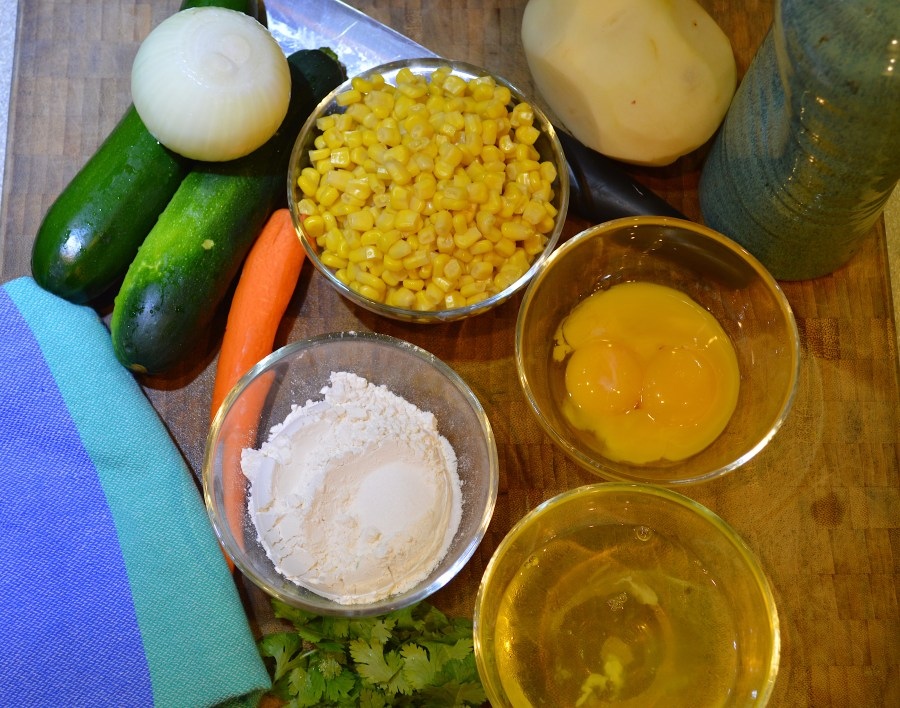 Ingredients for Vegetable Fritters