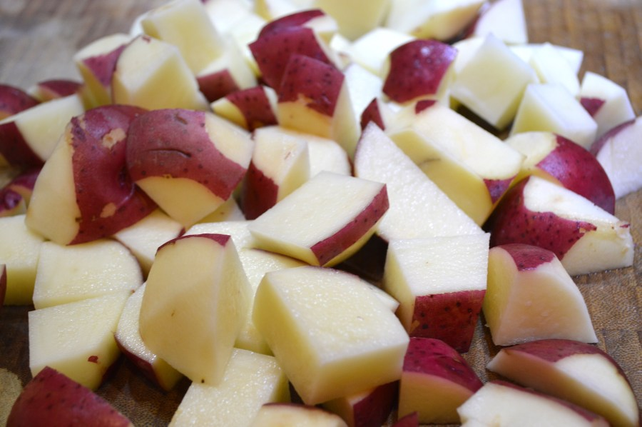 Chopped Red Potatoes