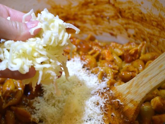 Adding Cheese to 3 Step Chicken Parmesan Pasta
