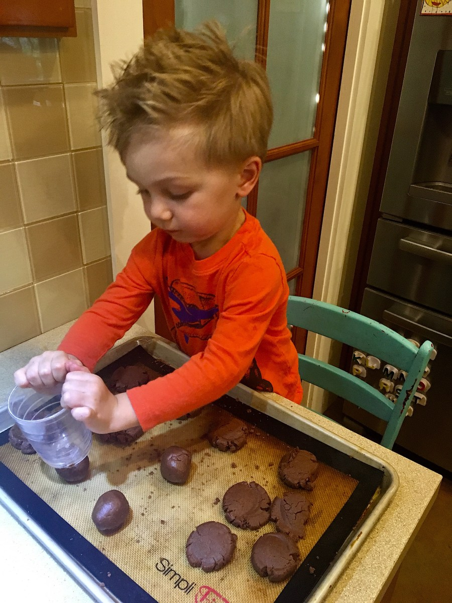 Andrew Helping Make Nutella Cookies
