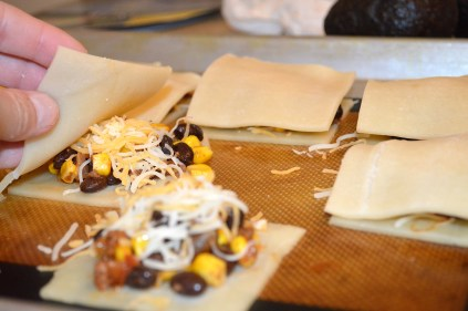 Stuffing Taco Tarts