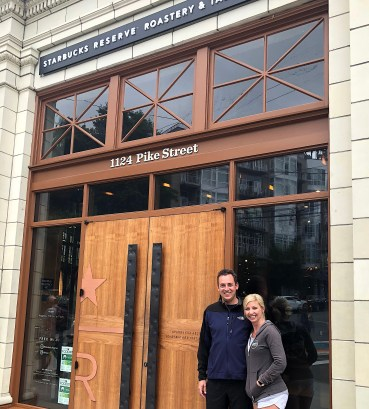Michael and Me at Starbucks Reserve Roastery & Tasting Room, Pike Street Seattle