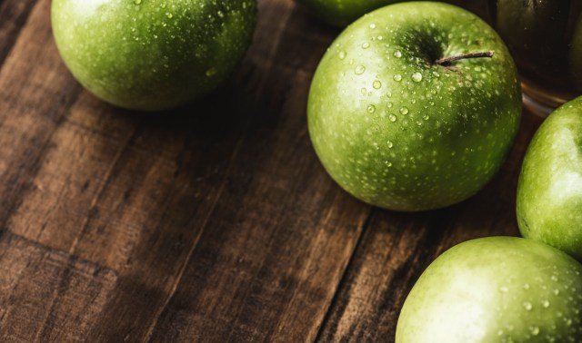 Washed Green Apples